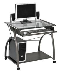 Acme 00118 Vincent Computer Desk, Silver