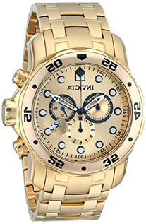 Invicta Men's 'Pro Diver' Quartz Stainless Steel and Gold