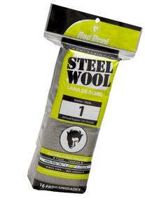 Red Devil 0314 Steel Wool, 1 Medium, 16 Pads