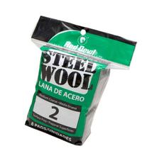 Red Devil 0325 Steel Wool, 2 Medium Course, 8 Pads