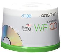 Memorex CD Rewritable Media - CD-RW - 12x - 700 MB - 50 Pack