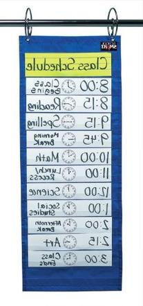 School Smart 085089 Classroom Schedule Pocket Chart, 12-1/2