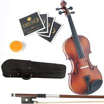 Mendini 1/32 MV300 Solid Wood Satin Antique Violin with Hard