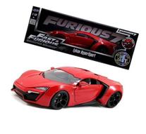 Jada 1/18 Scale Fast & Furious 7 Lykan Hypersport Red