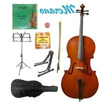 GRACE 1/2 Size Blue Cello with Bag and Bow+Rosin+Extra Set