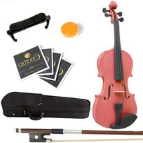 Mendini 1/2 MV-Pink Solid Wood Violin with Hard Case,