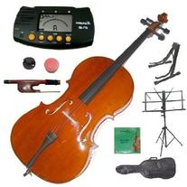 Merano 1/2 Size Student Cello with Bag and Bow+2 Sets of
