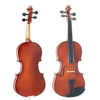 Mendini 1/4 MV200 Solid Wood Natural Varnish Violin with
