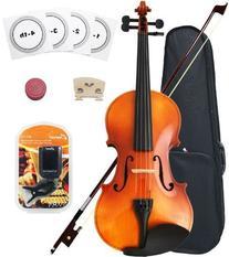 Crescent 1/4 Size Student Violin Starter Kit, Natural Wood