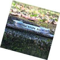 1/4 x 6 - David Bowie Labyrinth quote bracelet - i move the