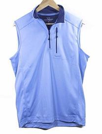Vineyard Vines Performance 1/4 Zip Ocean Breeze Blue Vest