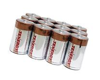 1 Box: 12 pcs Tenergy Alkaline D Size Batteries  - High