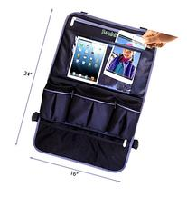 "Hominize Backseat Organizer for Car with 17"" Leather Touch"