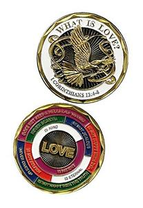 1 Corinthians 13:4-8 What is Love Military Challenge Coin