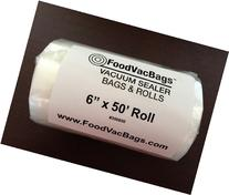 "1 - 6""x50' FVB Vacuum Sealer Bag Roll Commercial Grade"
