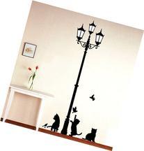 1 X Black Cat Design Picture Art Peel & Stick Wall Sticker