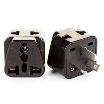 OREI 2 in 1 USA to Australia/China Adapter Plug - 2 Pack,