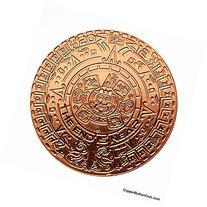 1 Aztec Mayan Calendar One Oz .999 Fine Pure Copper Round
