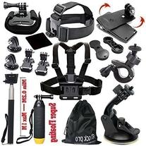 Black Pro Basic Common Outdoor Sports Kit for GoPro Hero 6 /
