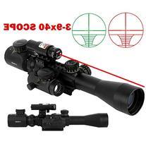 Beileshi 3 in 1 Combo 3-9x40 Tactical Hunting Rifle Scope
