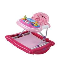 Dream On Me 2-in-1 Crossover Musical Walker and Rocker, Pink