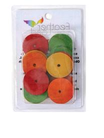 Paradise 1-1/2-Inch Diameter by 1/8-Inch Wood Disks Bird Toy