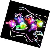 GIFTEXPRESS 1 dozen Light Up Whistle Necklaces/Light-Up