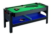 Carmelli NG1022M 6' 3-in-1 Flip Table featuring Billiards