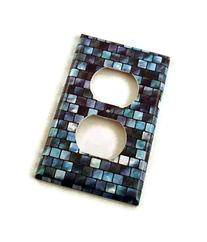 1 Gang Outlet Switch Plate, Tranquil Tiles