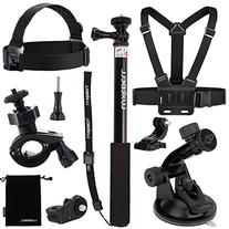 Luxebell 7-in-1 Accessories Kit for Sony Action Camera Hdr-