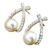 1 Set Of Luxury Hot Sale Elegance Rhinestone White Pearl
