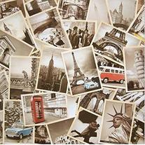 32 PCS 1 Set Vintage Retro Old Travel Postcards for Worth