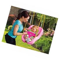 2-in-1 Snug 'n Secure Swing, Pink Features a Self Leveling
