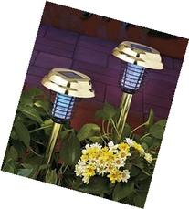 2-IN-1 SOLAR STAKE LIGHTS & FLYING INSECT / MOSQUITO ZAPPER