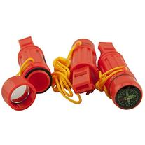 5 in 1 Survival Whistle, Emergency Zone Brand, 1 and 3 Packs