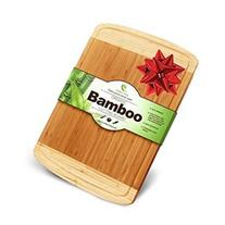 1 Beautiful Extra Large and Thick Bamboo Cutting Board: Wood
