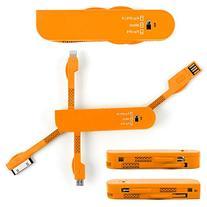 DURAGADGET 3-In-1 USB Multi Charger Adaptor In Orange For