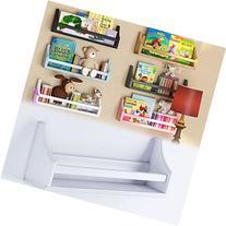 1 White Molding Design Children's Wall Shelf Birch Wood 20