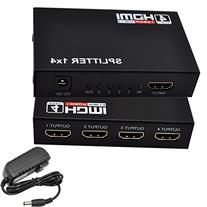 iKKEGOL 4 Port 1 x 4 HDMI Splitter Switch Video HUB Box