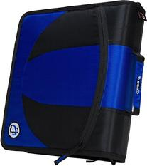 Case-it 2-in-1 Zipper D-Ring Binder, Blue