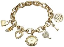 Anne Klein Women's  10-7604CHRM Swarovski Crystal Gold-Tone