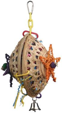 Super Bird Creations 10 by 7-Inch Basket Case Bird Toy,