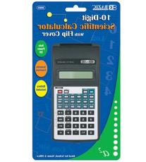 10-Digit Scientific Calculator with Flip Cover