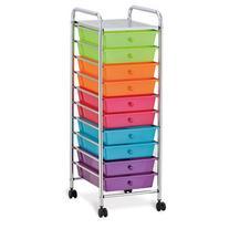 Seville Classics 10-Drawer Organizer Cart, WEB241
