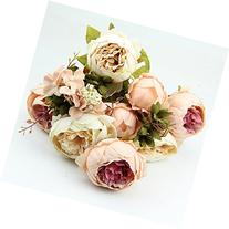 HeroNeo® 10 Head Bouquet Vintage Artificial Peony Silk