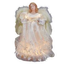 Kurt Adler 10-Light Angel Treetop, 12-Inch, Ivory