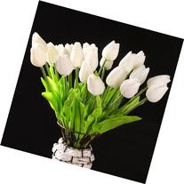 10 pcs White Tulip Flower Latex Real Touch For Wedding