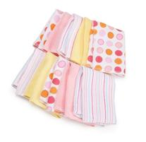Spasilk 10 pack Soft Terry Washcloth- Pink and White