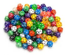 100+ Pack of Random D20 Polyhedral Dice in Multiple Colors