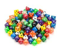 100+ Pack of Random D8 Polyhedral Dice in Multiple Colors By